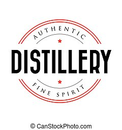 Authentic Distillery vintage stamp logo