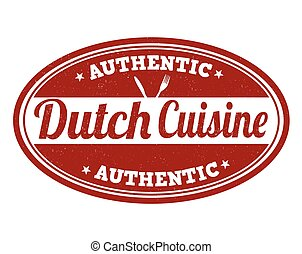 Authentic dutch cuisine stamp