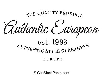 Authentic european product stamp