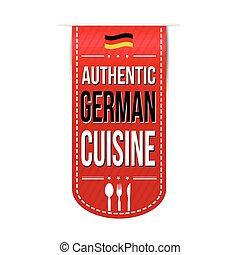 Authentic german cuisine banner design