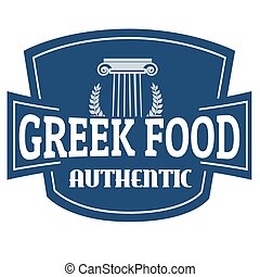 Authentic Greek Food label or stamp