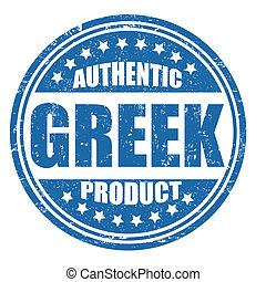 Authentic greek product stamp
