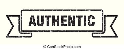 authentic grunge ribbon. authentic sign. authentic banner