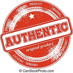 authentic grunge stamp vector