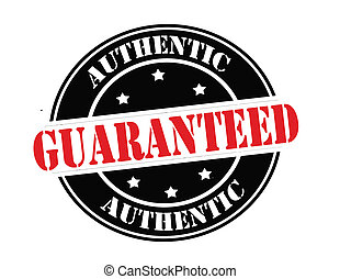 Authentic guaranteed - Stamp with text authentic guaranteed...