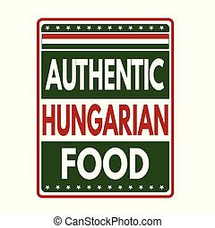 Authentic hungarian food label or stamp