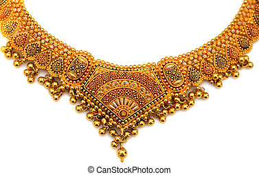 authentic indian jewellery isolated on a whiet background