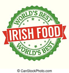 Authentic irish cuisine grunge rubber stamp
