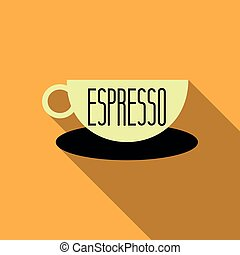 Authentic Italian espresso vintage . Coffee poster for cafe bar or restaurant. Drink vector illustration.