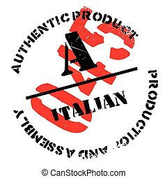 Authentic italian product stamp