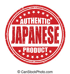 Authentic japanese product grunge rubber stamp on white, vector illustration