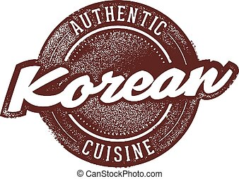 Authentic Korean Restaurant Food