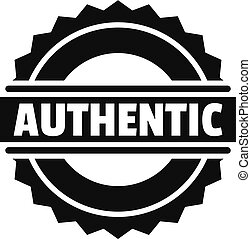 Authentic logo, simple style.