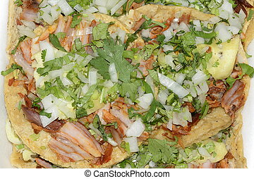 Authentic Mexican tacos, cuisine