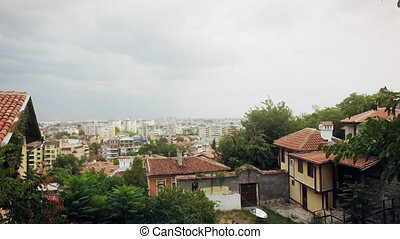 Authentic Old Houses in Plovdiv, Bulgaria. European Capital...