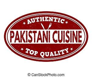 Authentic pakistani cuisine sign or stamp - Authentic...