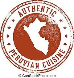 Authentic Peruvian Food Menu Design Stamp