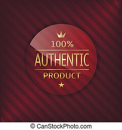 Authentic product glass label