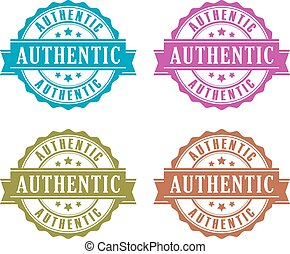 Authentic product icons set