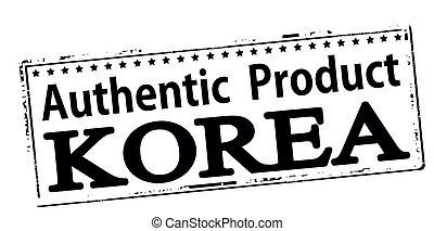 Authentic product Korea