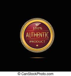 Authentic product label