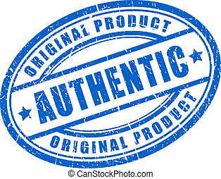 Authentic product stamp