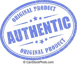 Authentic product vector stamp