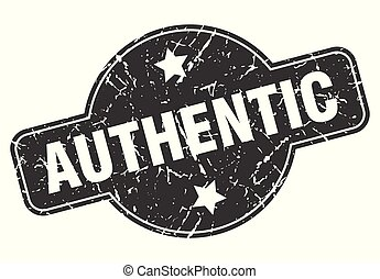 authentic round grunge isolated stamp
