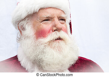 Authentic Santa Claus - Close up of a very authentic ...