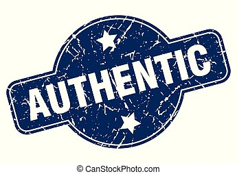authentic sign - authentic vintage round isolated stamp