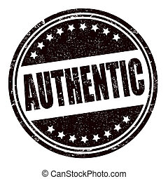 Authentic stamp - Authentic grunge rubber stamp on white, ...