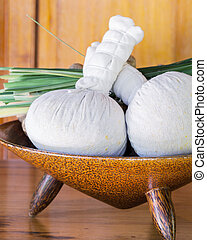 Authentic thai spa therapy ingredients.