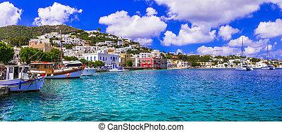 Authentic traditional Greece - beautiful Leros island, Agia ...
