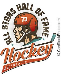 Authentic vintage hockey logo