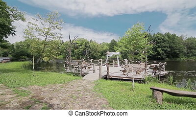 Authentic wooden place for a wedding - Authentic outdoor...