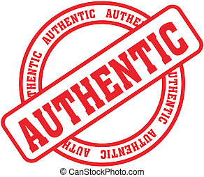 authentic word stamp in vector format