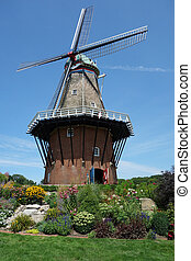 Authentic working windmill