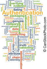 authentication, begriff, hintergrund
