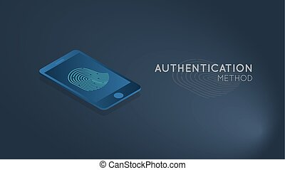 authentication, concept, smartphone