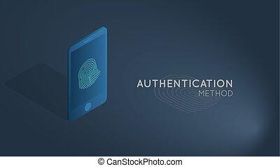 authentication smartphone concept