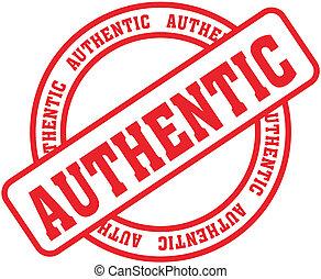 authentique, mot, stamp4