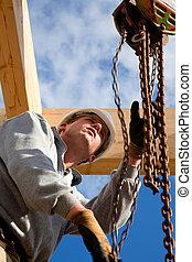 authentique, ouvrier construction