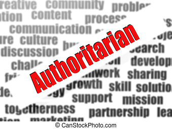 Authoritarian word cloud