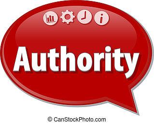 Authority   Business term speech bubble illustration