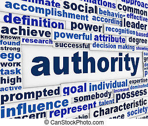 Authority message background. Government power poster...