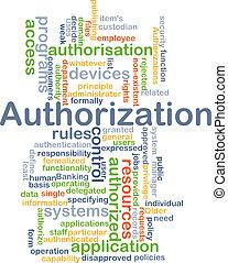 Authorization background concept