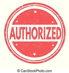 Authorized grunge rubber stamp