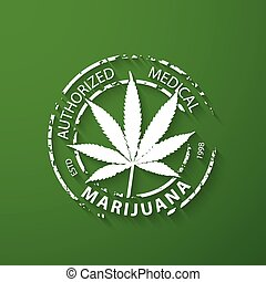 Authorized medical marijuana stamp
