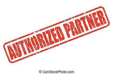 AUTHORIZED PARTNER RED STAMP TEXT