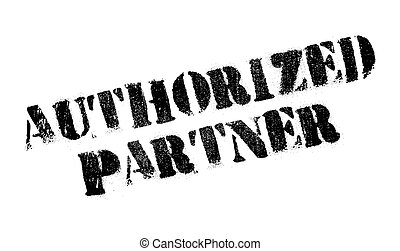 Authorized Partner rubber stamp. Grunge design with dust ...